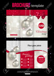christmas trifold brochure template abstract flyer design christmas trifold brochure template abstract flyer design xmas pink bow silver balls