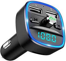 Cocoda Bluetooth FM Transmitter for Car, <b>Blue</b> Ambient: Amazon.co ...