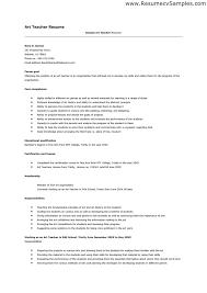 Example Resume  Sample Resume For Teaching Job Teaching Resumes