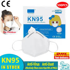 <b>KN95 Children Mask Non</b>-woven Dust Mask 4 Layers Anti Pollution ...