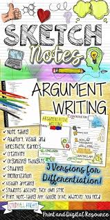 best ideas about argumentative writing thesis argumentative writing essay outline sketchnotes teacher background
