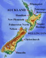 topography map of New Zealand