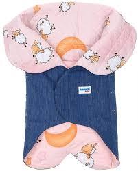 <b>Конверт</b> для новорожденного <b>Ramili Light Denim</b> Style Pink