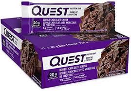 <b>Quest</b> Nutrition <b>Double</b> Chocolate Chunk <b>Protein Bar</b>, High Protein ...