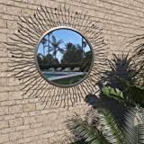 vidaXL <b>Wall Mirror Baroque Style</b> 140x50 cm White: Amazon.co.uk ...