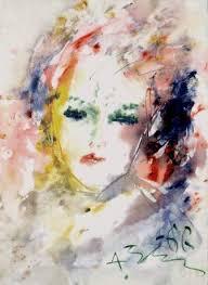 Portrait of a woman, by Anatoly Zverev. (1966). - 0b90e98dae48f63cdb242b2cbbf977da