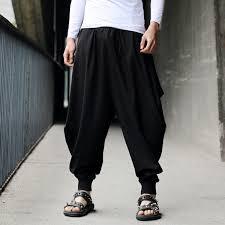 2019 Wholesale Men Ultralarge Harem <b>Pants Hiphop</b> Dance Yoga ...