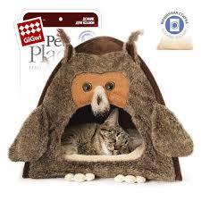 <b>GiGwi Домик</b> мягкий для <b>кошек</b> Сова меховой 38х40х38 см купить ...