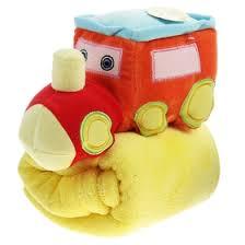 """<b>Плед</b> с игрушкой для новорождённых """"Этелька"""" Паровоз оранж ..."""