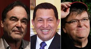 By PATRICK GAVIN | 3/6/13 7:05 AM EST. As the legacy of Hugo Chávez gets debated in the wake of his passing, filmmakers Michael Moore and Oliver Stone took ... - 130306_stone_chavez_moore_ap_328