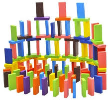 Elite Imported Authentic Standard <b>Wooden</b> Domino Set 12 <b>Colors</b> ...