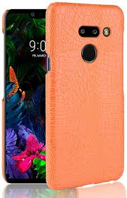 FAIRYCASE Thin LG G8 Thinq Case <b>Crocodile Pattern</b> Bright <b>PU</b> ...
