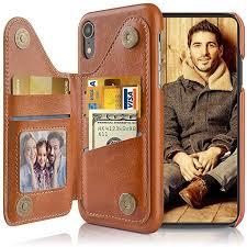 LOHASIC iPhone XR Wallet Case, 3 Card Holder ... - Amazon.com