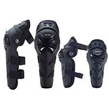 Leezo <b>4pcs</b>/<b>set Elbow Knee Sleeve</b> Pad Windproof Breathable Arm ...