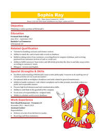 Cashier Resume Templates: 16 free samples in Word McDonalds Cashier Resume