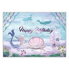 Allenjoy Little Mermaid Birthday Party Backdrop 7x5ft ... - Amazon.com