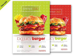 burger flyer template psd template fre burger flyer template psd template flyer