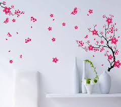 tree wall decor art youtube: room wall decor diy butterfly flowers tree tv bedroom home decor wall stickers diy merry font b christmas b font
