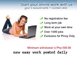 online job online work for pinoy only