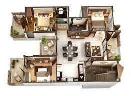 "ideas about d House Plans on Pinterest   House plans  New     Three "" "" Bedroom Apartment House Plans  House Floor Plans D"