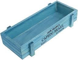 Mentin <b>Vintage Hollow</b> Flower Pot <b>Wooden</b> Rustic Rectangular Bed ...