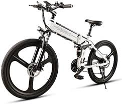 SHIJING <b>LO26 26 Inch</b> Folding Electric Bike Power Assist Electric ...