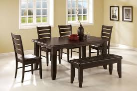 Dark Dining Room Set Awesome Walnut Dining Room Table Bench Kitchen Wood Bench Dining