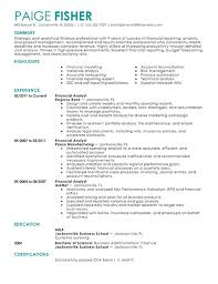 best financial analyst resume example   livecareerfinancial analyst resume example