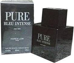 <b>Karen Low Pure Bleu</b> Intense Eau De Toilette Spray for Men, 100 ml ...