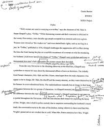 rough draft essay example sample  final draft research essay  example of rough draft essay porza resume created by naturetrifles susan glaspell students teaching english paper