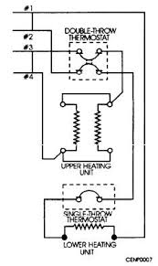 oven heating elements most hot water heaters that you will be installing will have a wiring diagram similar to the one shown in figure 7 7 the thermostat is in series the