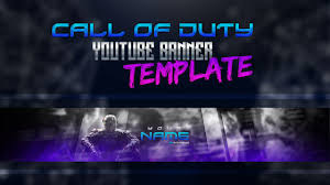 Free Youtube Banner Template Call Of Duty Style - YouTube