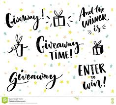 giveaway stock illustrations giveaway stock illustrations giveaway text and design elements set of handwritten lettering and hand drawn gifts social