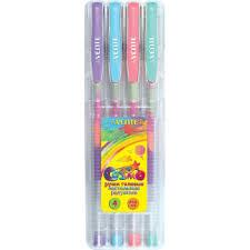 <b>Набор</b> гел. <b>ручек</b> 4 цв., Cosmo <b>Rainbow</b> , пастельных радужных |