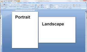 portrait and landscape orientation in word and excel 1 pages