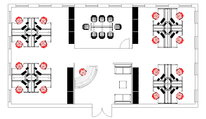 space plan example 2 cad office space layout