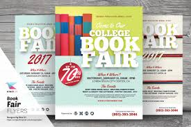 book fair flyer templates flyer templates on creative market