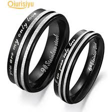 1Pc Unisex You Are My <b>Only Love Couple</b> Wedding Band Ring-buy ...