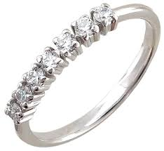 Купить Эстет <b>Кольцо с 7 фианитами</b> из серебра 01К151117 ...
