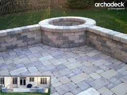 patio ledge stone fire