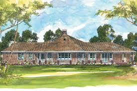 Craftsman House Plans   Oceanview     Associated DesignsCraftsman House Plan   Oceanview     Rear Elevation