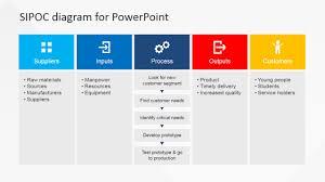 flat sipoc powerpoint diagram   slidemodelflat sipoc powerpoint diagram