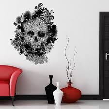Small Picture Skull Swirls Wall Sticker designer skull wall decal