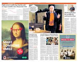print and digital newspaper advertising examples and content nothing maximises the power of newsbrand advertising like great creative work browse our gallery for examples of executions which have run in print and