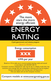 labelling energy rating computer monitors