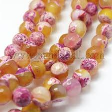 Wholesale <b>Natural Fire Agate</b> Bead Strands, Round, Grade A ...