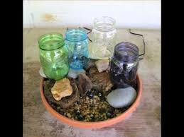 diy patio pond: diy mason jar water garden fountain for patio pond or garden