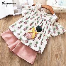 Комплект детской одежды для девочек, <b>футболка</b> с ананасом и ...