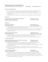 best photos of resume summary examples for students good resume marketing student resume summary