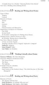 contents getting started from response to argument p art i filmed version of a play checklist writing about a filmed play your turn plays
